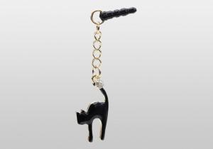 イヤフォンジャックマスコット猫[スマホアクセサリー・スマホチャーム]スマホアクセサリー専門店 スマホスタイル-Catty girls